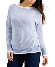 Marled Boat-Neck Sweater, Created for Macy's