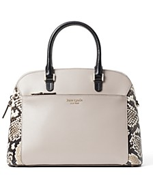 Louise Python Embossed Medium Dome Satchel