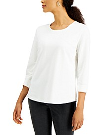 Seamed French Terry Top, Created for Macy's