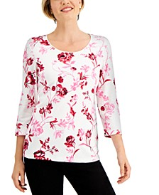 Garden Gift Floral-Print Top, Created for Macy's