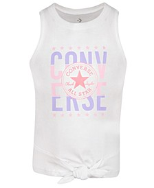 Girls Tie Front Sleeveless Tee