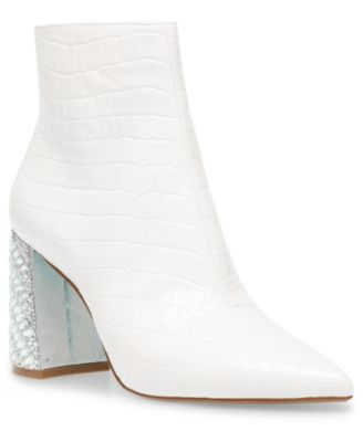White Ankle Boots - Macy's