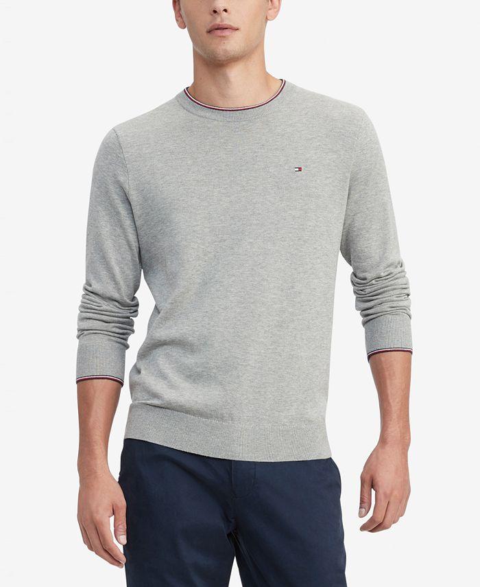 Tommy Hilfiger - Men's Johan Regular-Fit Tipped Sweater