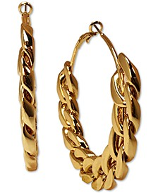 "Gold-Tone Large Chain Link Hoop Earrings, 2.6"", Created for Macy's"
