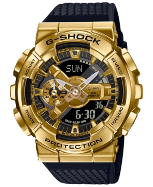 Men's Analog-Digital Black Resin Strap Watch 52mm