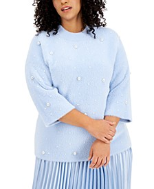 Plus Size Beaded Sweater, Created for Macy's