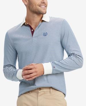 Tommy Hilfiger Men's Brewster Custom-Fit Stripe Polo Shirt