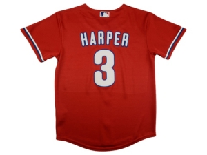 Nike Youth Philadelphia Phillies Official Player Jersey - Bryce Harper
