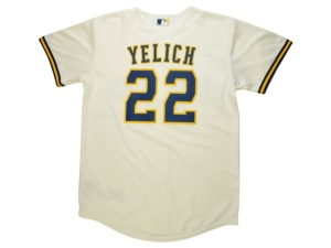 Nike Youth Milwaukee Brewers Official Player Jersey - Christian Yelich