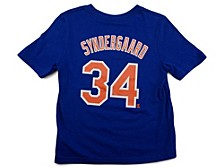 New York Mets Noah Syndergaard Little Boys Name and Number Player T-Shirt