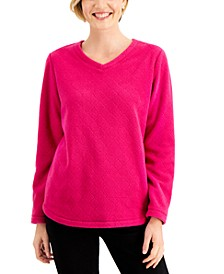 Quilted Microfleece Top, Created for Macy's