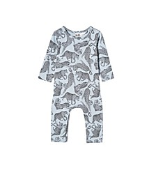 Baby Boys and Girls The Long Sleeve Snap Romper