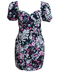 Belted Floral-Print Bustier Dress, Created for Macy's
