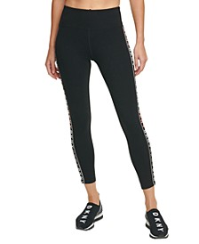 Sport Logo-Stripe High-Waist Leggings