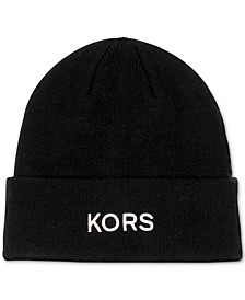 Men's KORS Embroidered Cuff Hat