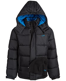 Toddler Boys Hooded Quilted Puffer Coat