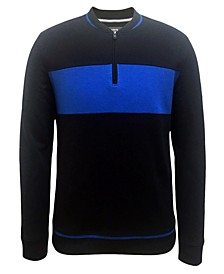 Men's Baseball Ottoman Quarter Zip Sweatshirt, Created for Macy's