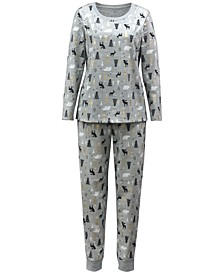 Matching Plus Size Woodland-Print Family Pajama Set, Created for Macy's