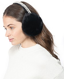 INC Embellished Faux-Fur Earmuff, Created for Macy's