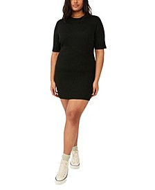 Trendy Plus Size Tahlia True Knit Mini Dress