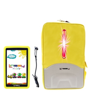 Linsay Android 10 Tablet with Kids Defender Case, Earphones and Led Back Pack