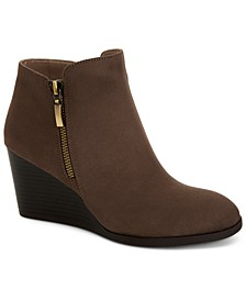 Wynonaa Wedge Booties, Created for Macy's