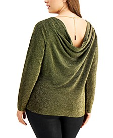 Plus Size Chain Cowl-Back Top