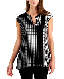 Printed High-Low Top, Created for Macy's