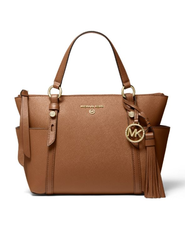 Michael Kors Nomad Small Convertible Top Zip Leather Tote