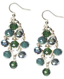 Gold-Tone Beaded Kite Drop Earrings, Created for Macy's