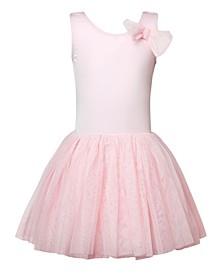 Little and Big Girls Bow Classic Tutu Dress
