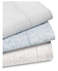 Sleep Luxe Cotton 800-Thread Count 4-Pc. Printed Sheet Sets, Created for Macy's