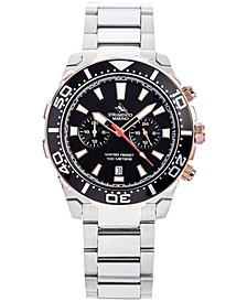 Men's Skipper Chronograph Stainless Steel Bracelet Watch 44mm, Created for Macy's