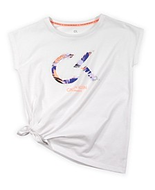 Big Girls Side Tie Tee with Screenprint Foil
