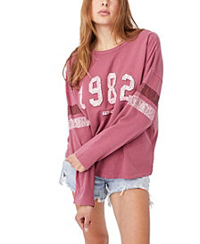 COTTON ON Women's Kyle Oversize Graphic Long Sleeve T-shirt