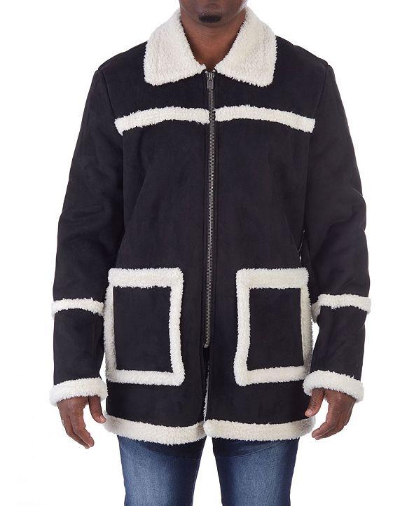 X-Ray  Men's Faux-Sherpa Jacket