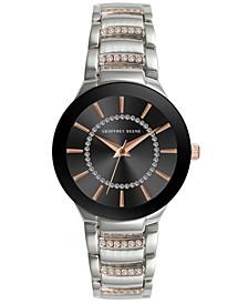Women's Silver-tone Rose Gold Metal Alloy Bracelet Watch, 32 mm