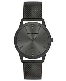 Men's Gunmetal Mesh Strap Watch, 40 mm