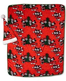CLOSEOUT! 2-Pc. Travel Blanket & Santa Hat Set
