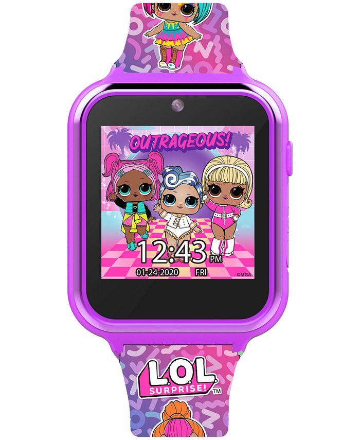 Accutime - Kid's Pink Silicone Strap Smart Watch 46x41mm