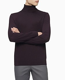 Merino Turtleneck Logo Sweater