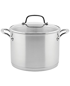 Brushed Stainless Steel 8-Qt. Stockpot with Lid