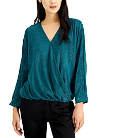 Embellished Surplice Top, Created for Macy's