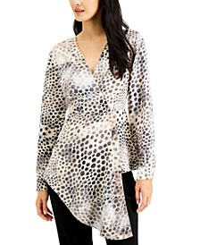 Animal-Print Surplice Blouse, Created for Macy's