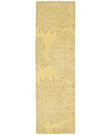 "Chrysanthemum MSR4542A Beige 2'3"" x 8' Runner Rug"