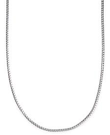 "24"" Men's Franco Box Chain Necklace in Sterling Silver"