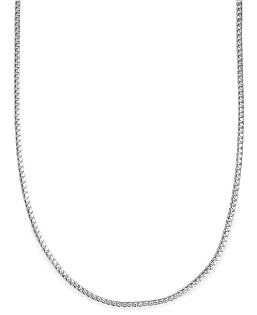 Macy S 24 Men S Franco Box Chain Necklace In Sterling Silver Reviews Necklaces Jewelry Watches Macy S