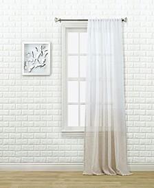 "Olsen Ombre Sheer Rod Pocket Curtain Panel By Nefeli, 96"" x 52"""