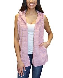Crave Frame Juniors' Faux Fur Vest