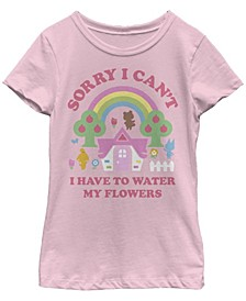 Big Girls Nintendo Animal Crossing Water My Flowers T-shirt